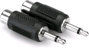 HOSA GRM-114 Adapter, RCA Hona - Mini Tele Hane, (2 PACK).