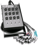 HOSA StageBox SH-12X4-100 StageBox 12st XLR send, 4 Balanserad Tel...