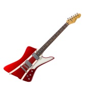 Forty Eight Guitar Metallic Red/Stripes Soft Aged White dots