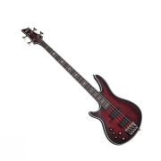 Schecter HELLRAISER Extreme-4 Crimson Red Burst Satin LEFT