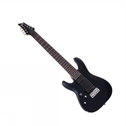 Schecter C-8 Deluxe Satin Black LEFT