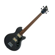 Huntington 2042PFFB Fretless, Double Pickup, Flat Black