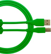 UDG Gear Ultimate USB 2.0 A-B Green Straight 1m