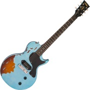 V120 Icon - Distressed Gun Hill Blue over Sunburst