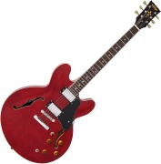 VINTAGE VSA500 GUITAR, CHERRY RED
